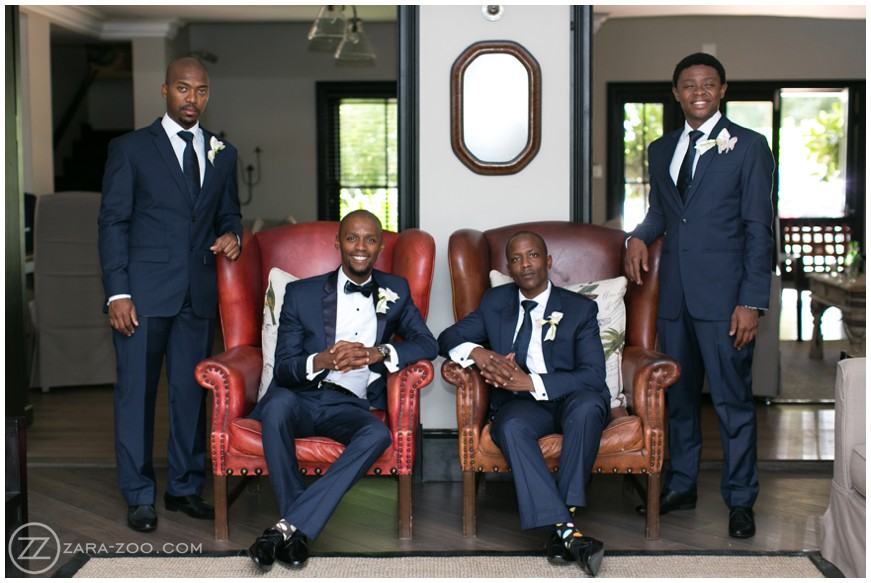 Groom and Groomsmen at Wedding