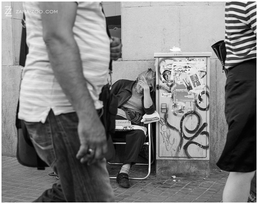 Beggar Photos Barcelona & London