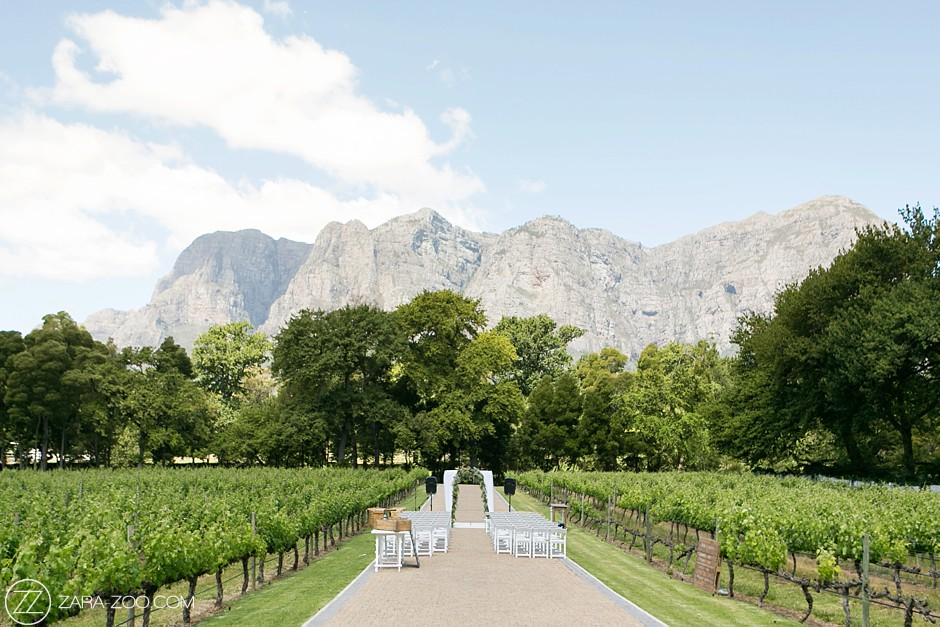Outdoor Wedding at Molenvliet Wine Estate