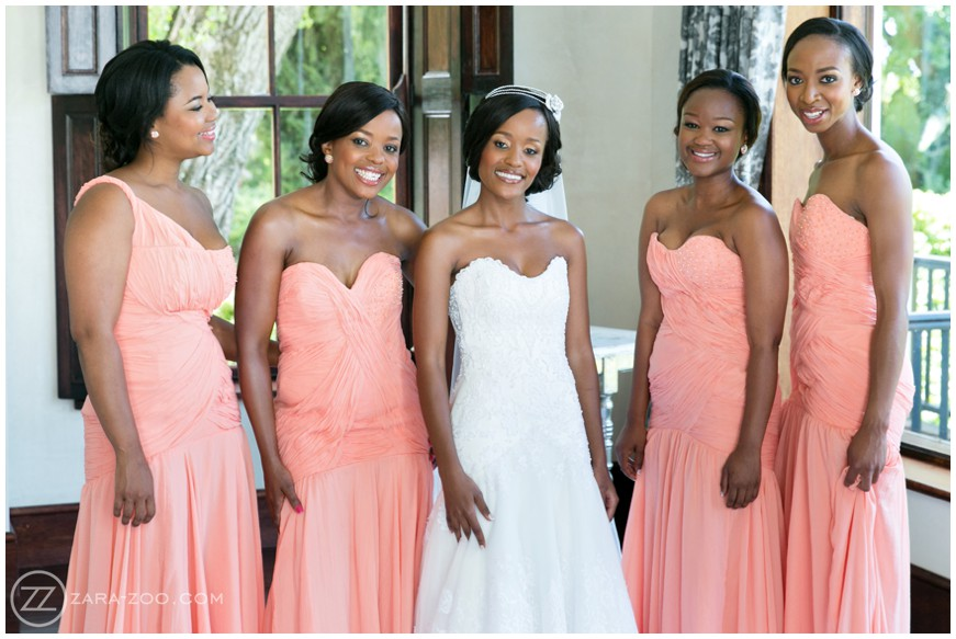 Bridesmaids at Wedding South Africa