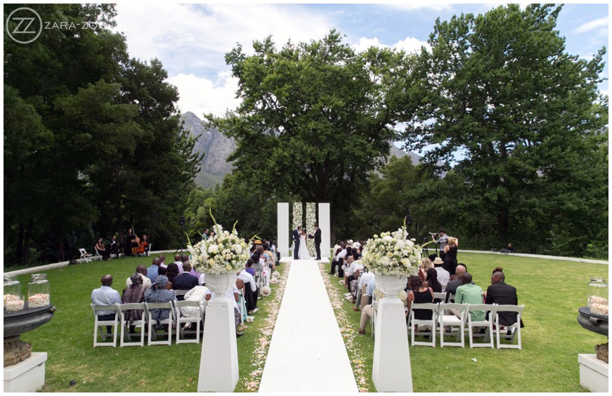 Outdoor Wedding Ceremony at Molenvliet Stellenbosch