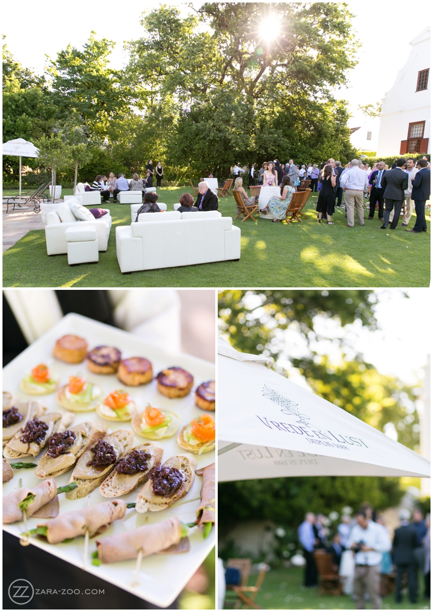 Outdoor Wedding Pre Drinks and Canapes