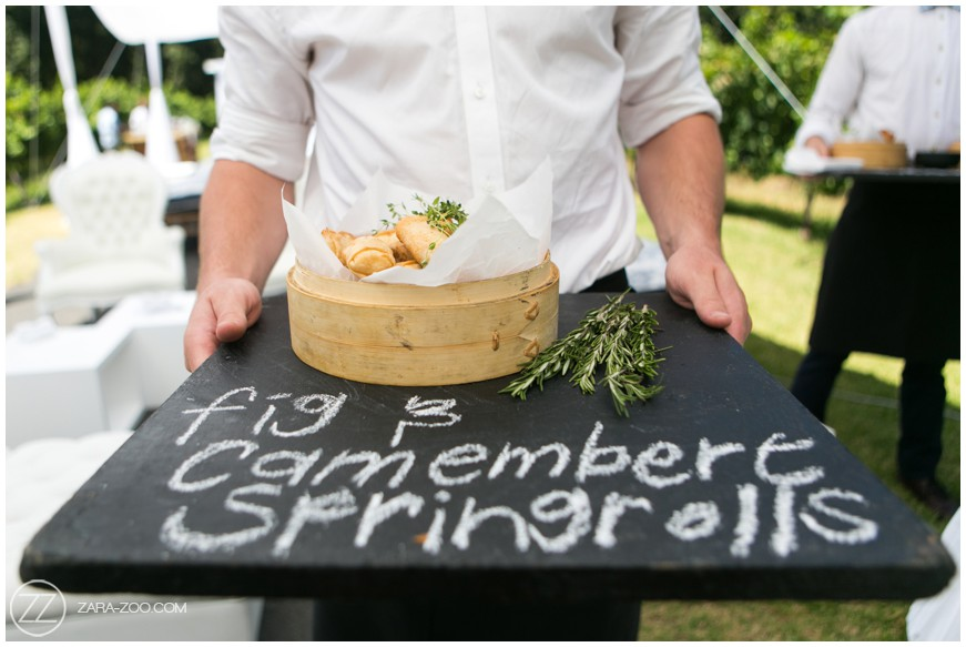 Spring Rolls Wedding Food Canapes