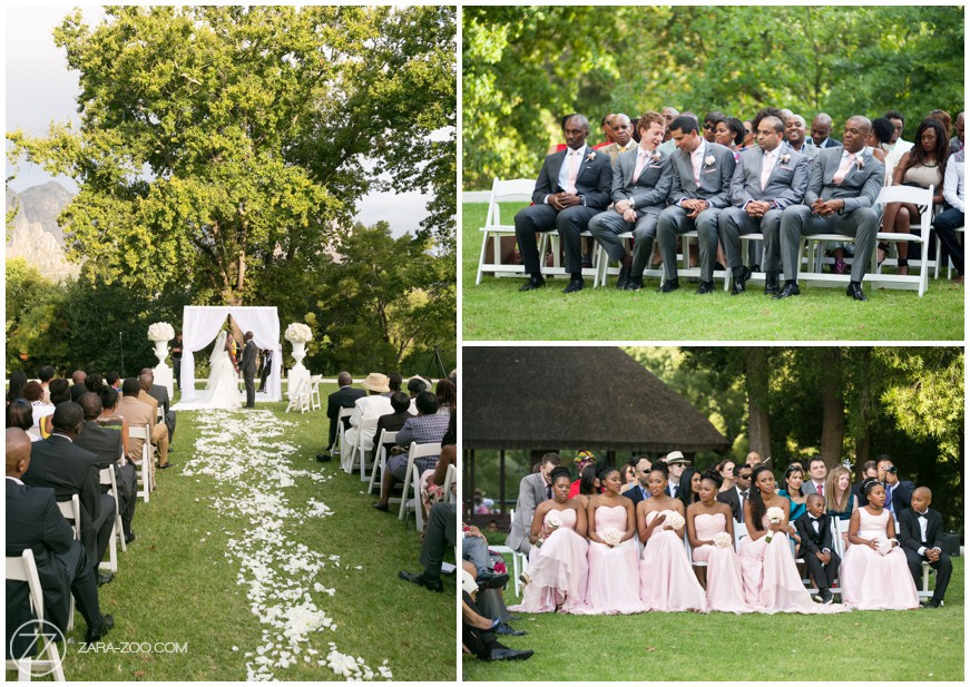 Outdoor Wedding Ceremony Stellenbosch