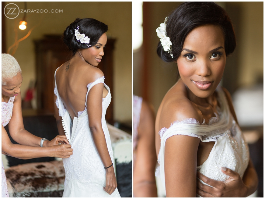 floral wedding hairstyle for african hair
