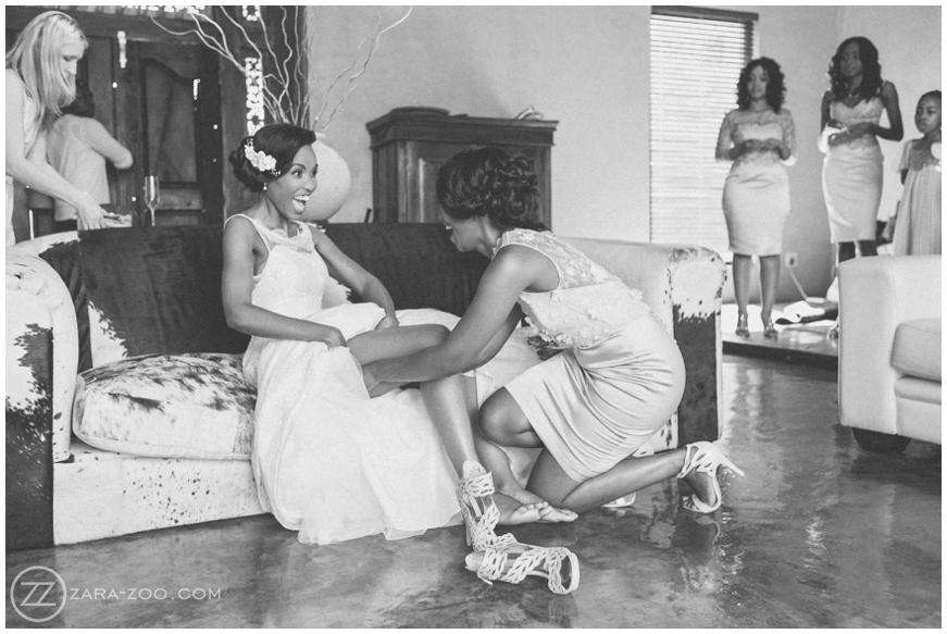 happy african bride