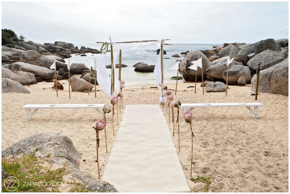 Intimate Beach Wedding Ceremony Cape Town