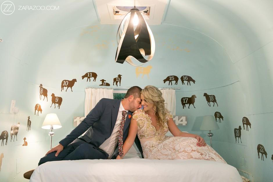 Old Mac Daddy Wedding Venue - Inside Airstream Caravan