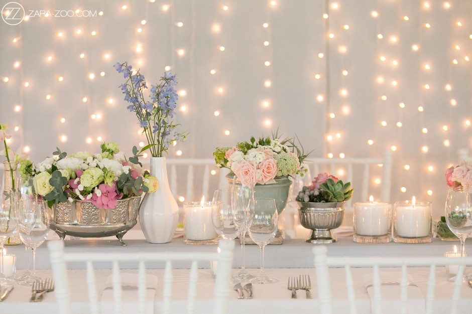 Wedding Decor and Flowers at Lourensford