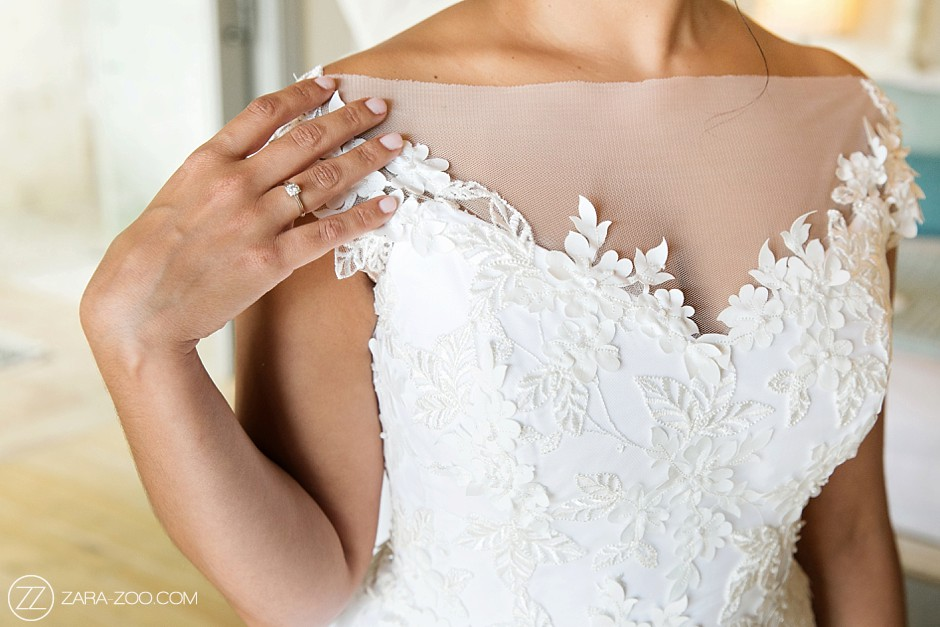 Wedding Dress Detail ZaraZoo Photography