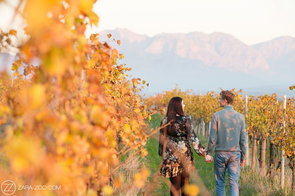 Autumn Engagement Photo Shoot Cape Town