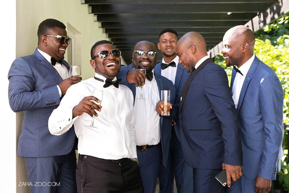Groom and Groomsmen Celebration Zarazoo Photography
