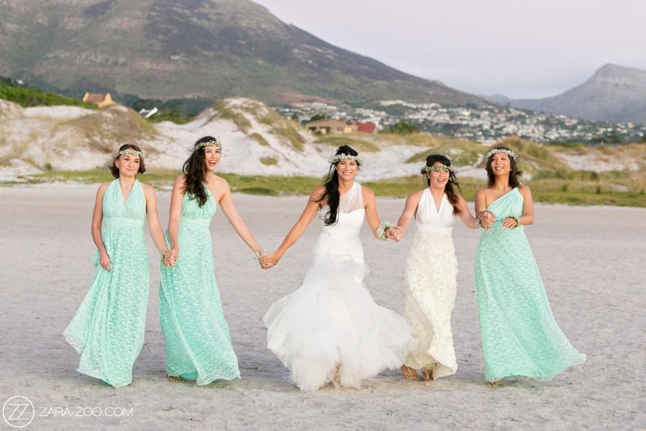 Bridesmaids and Bride at Llandudno