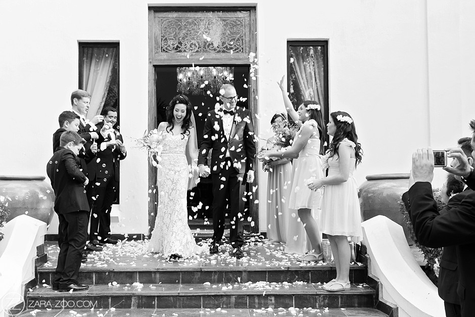 Wedding Confetti Bubbles and Flowers