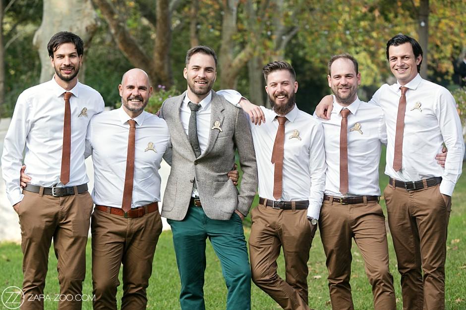 Autumn Wedding Brown Groomsmen Suits