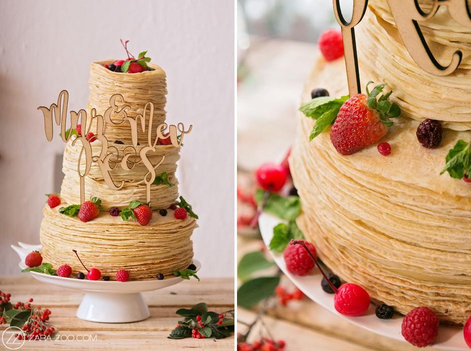 Awesome Crepe Pancake Wedding Cake