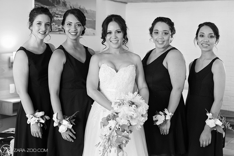 Black and White Wedding Photos South Africa