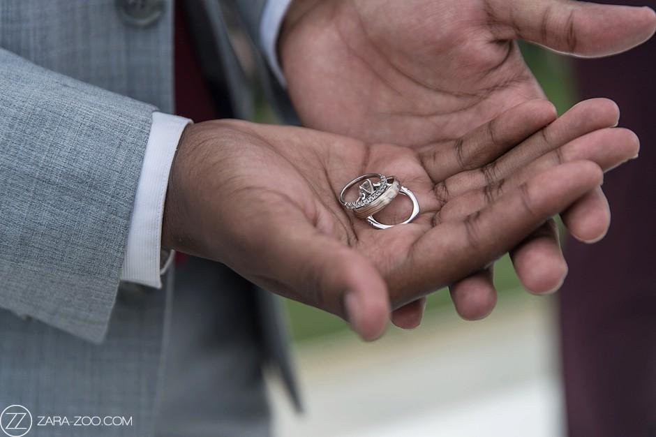 Wedding Rings in Hands of Ring Bearer