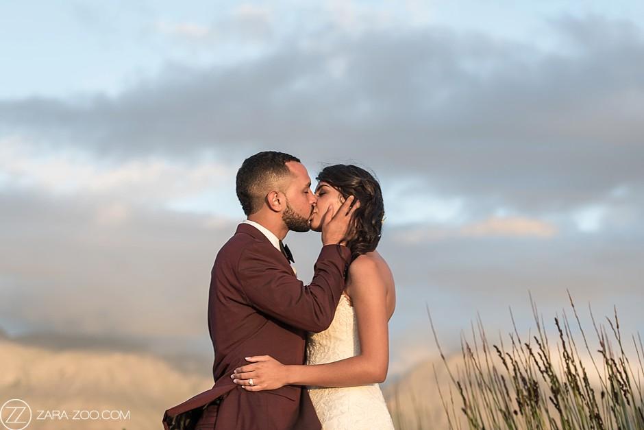 Couple Kiss Photos in Stellenbosch, South Africa