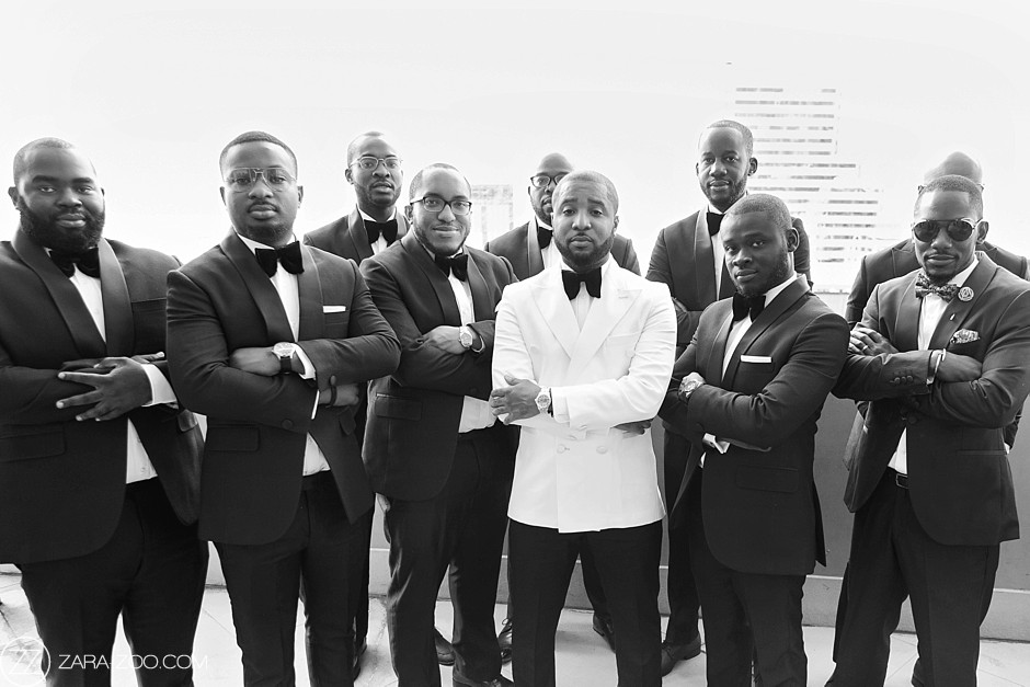 Nigerian Wedding in South Africa Groom & Groomsmen