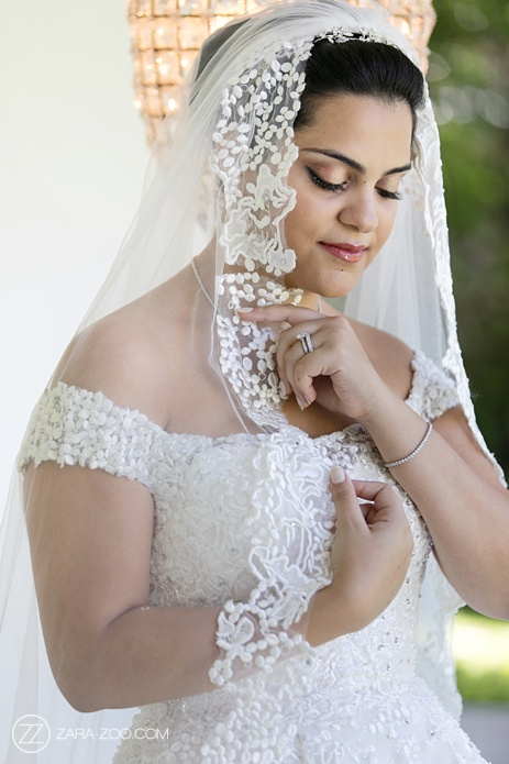 Bridal Portrait with Veil ZaraZoo Photography