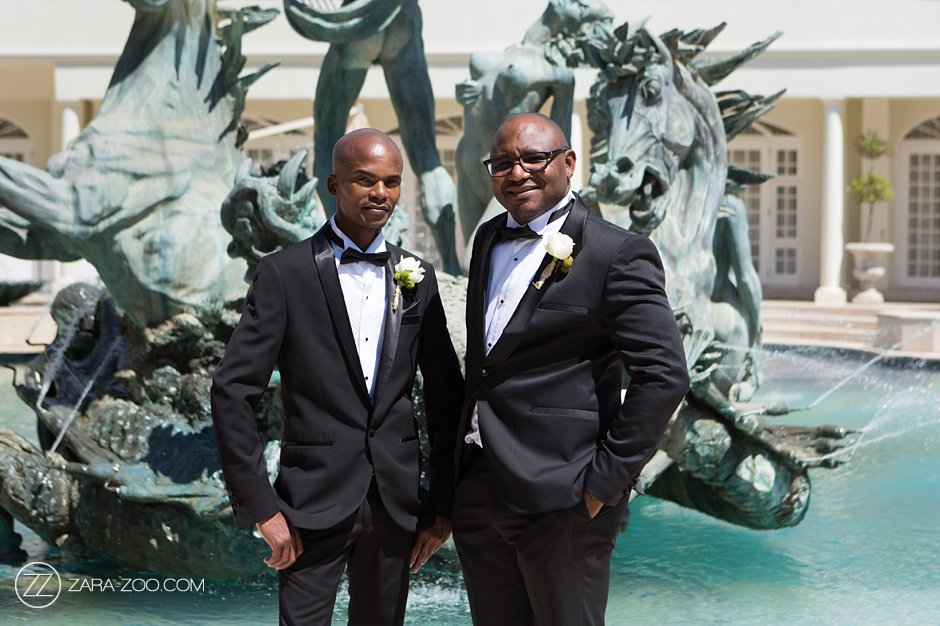 groom and bestman fountain