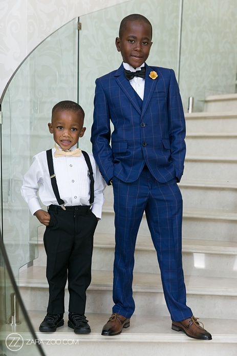 wedding kids wearing suits