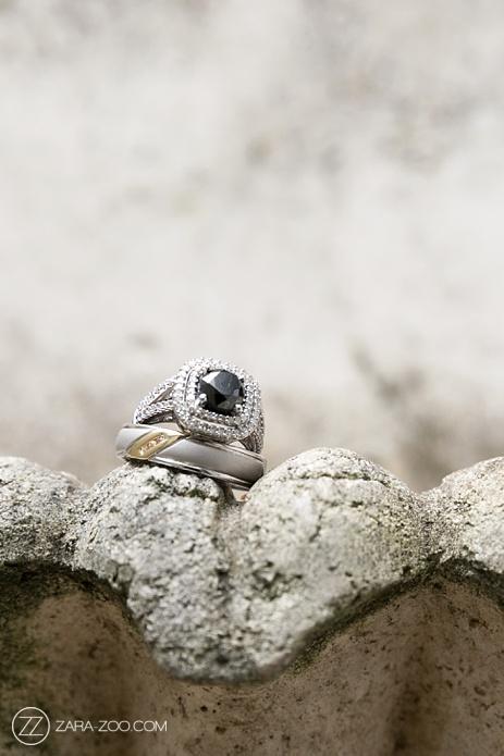 Wedding Rings Photo Black Diamond