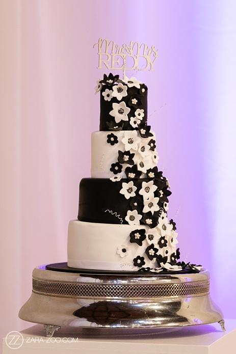Black and White Wedding Cake South Africa