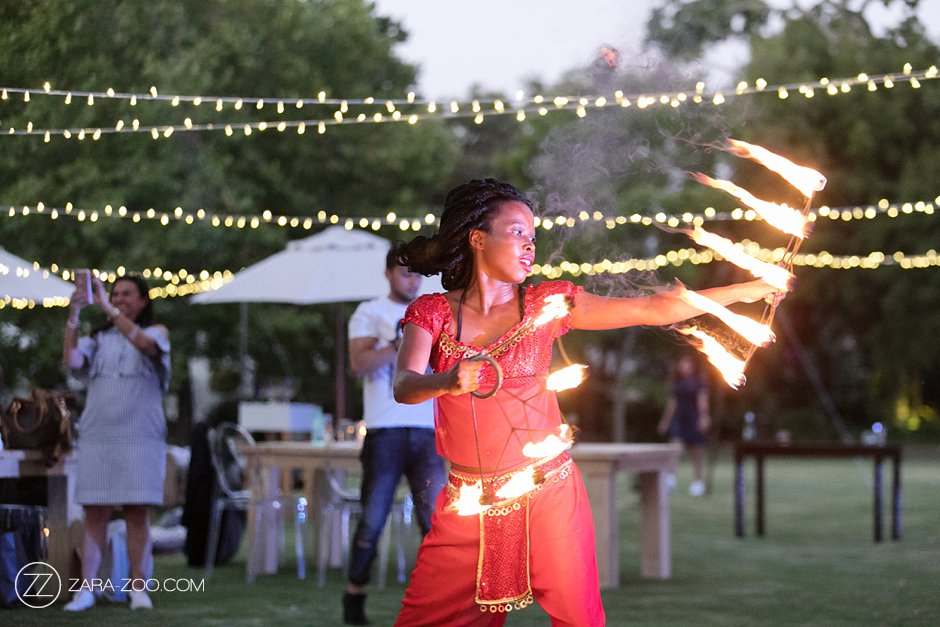 Fire Dancing at Wedding Ceremony ZaraZoo
