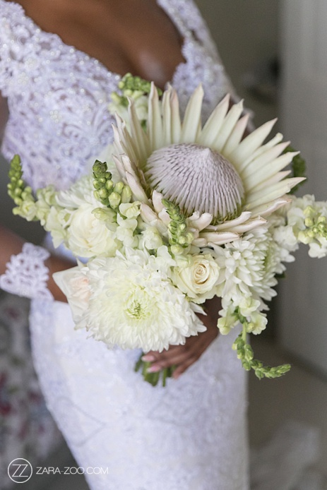 Wedding Bouquet with White Protea South Africa