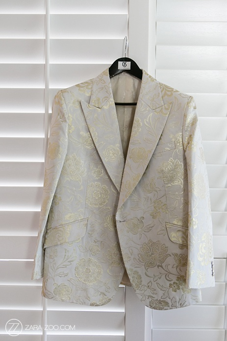 Wedding Suit Jacket White Gold