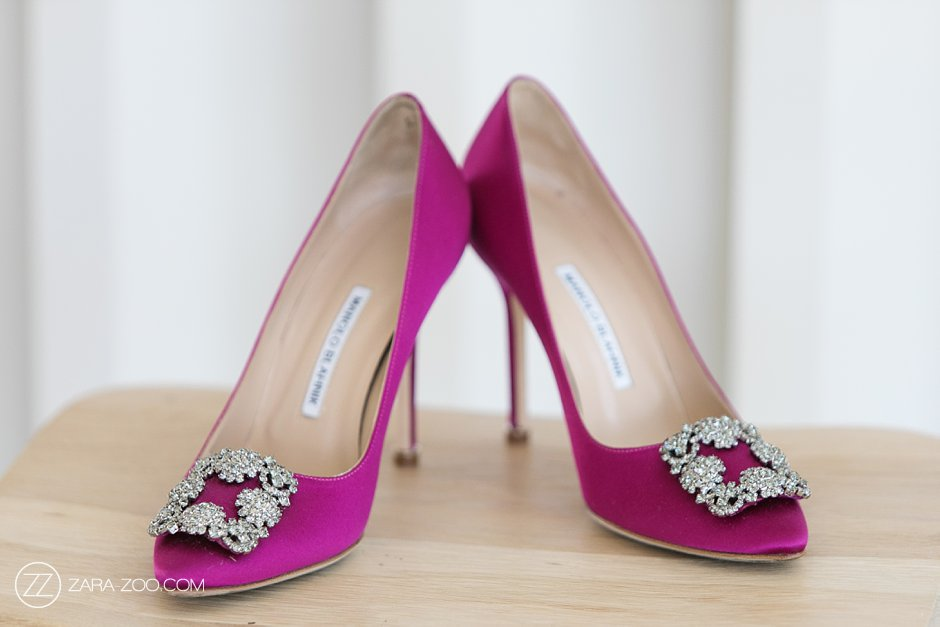 Pink Manolo Blahnik Wedding Shoes