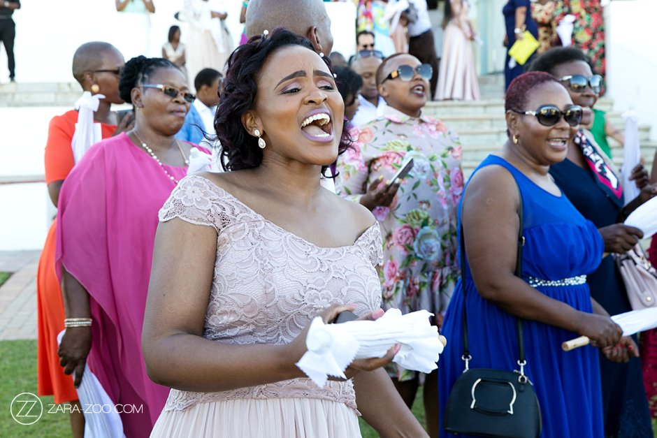 Wedding Guests Singing South Africa