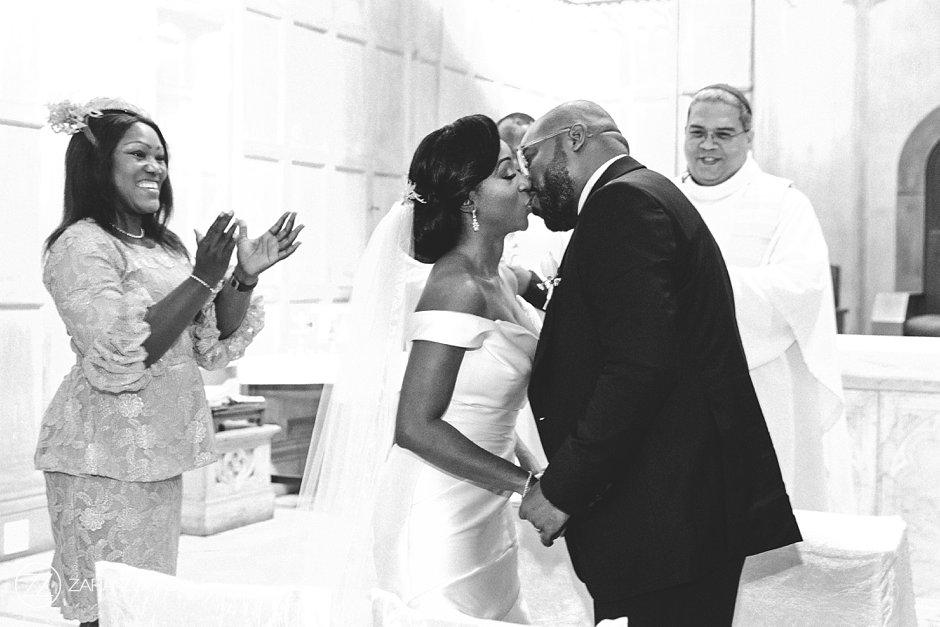 Wedding Photos First Kiss