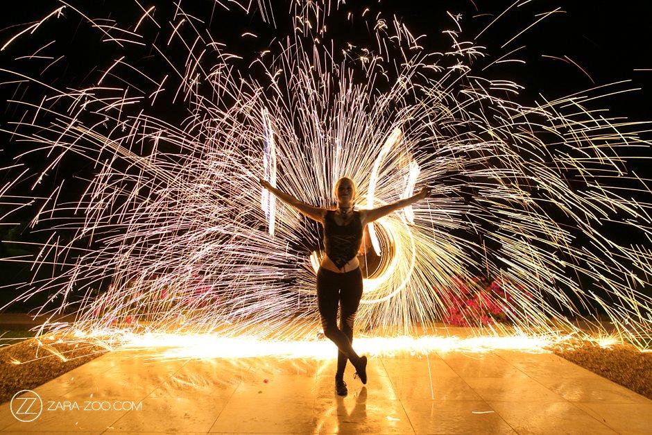 Fire Dancers at a Wedding