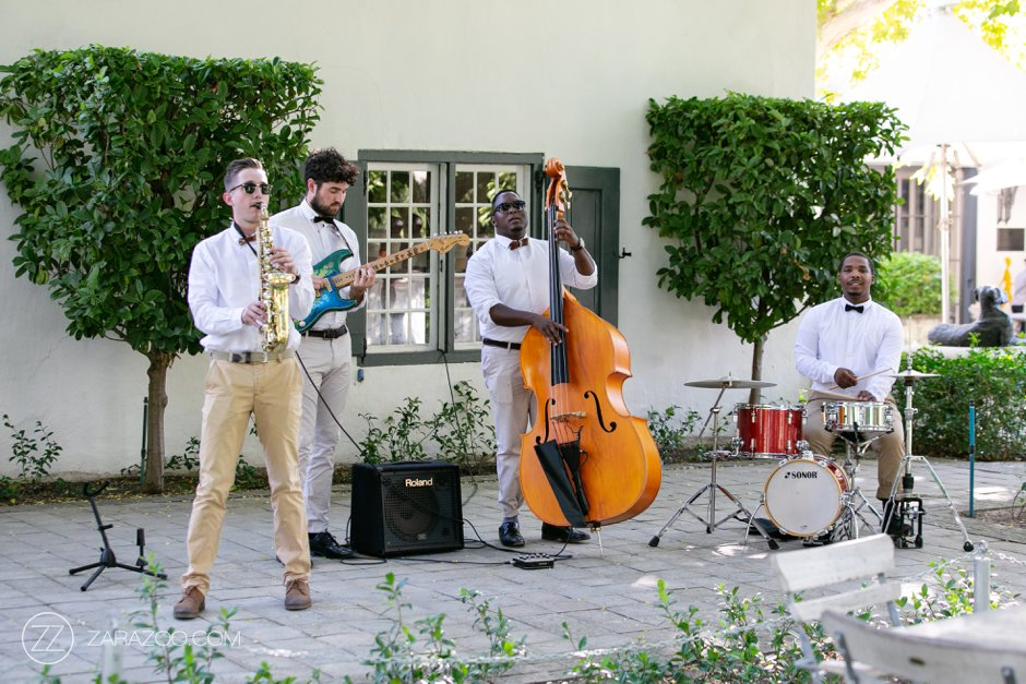Wedding at Grande Provence - Dan Shout Jazz Band