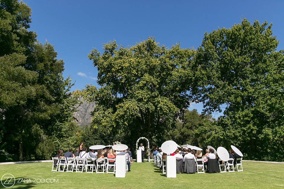 Getting Married in Cape Town - Ceremony under oaks