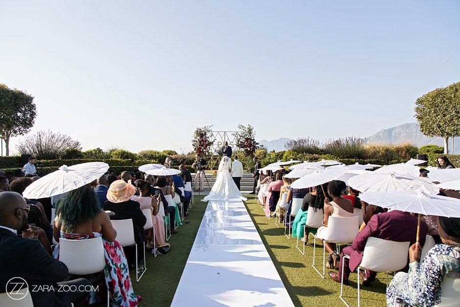 Cavalli Wedding Photos - Ceremony in the sunken garden