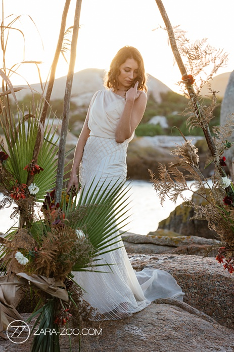 Beach Wedding Inspiration - Dress by Victor K Couture