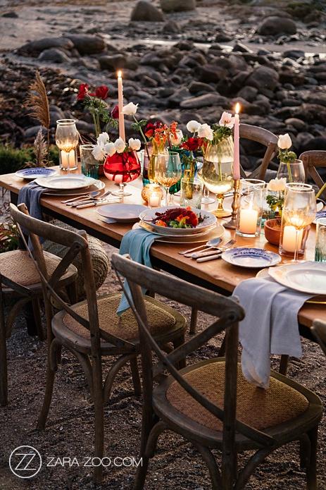 Romantic Beach Wedding Table Decor Ideas