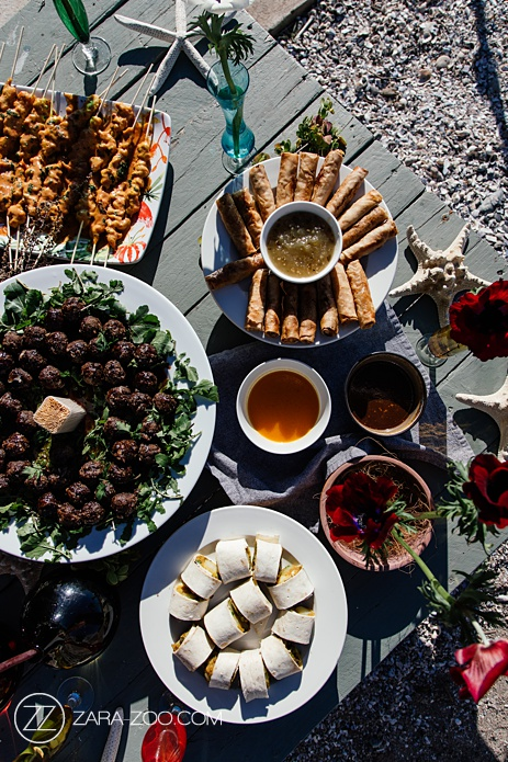 Wahine Food Truck Catering - Beach Wedding Canapes